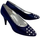 St. John Navy & Silver Studded Diamond Heels