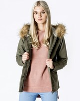 Bellfield Fur Trim Short Parka