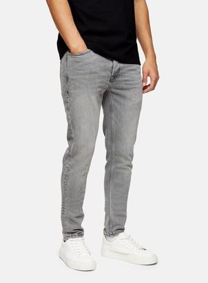 Topman CONSIDERED Grey Stretch Skinny Jeans