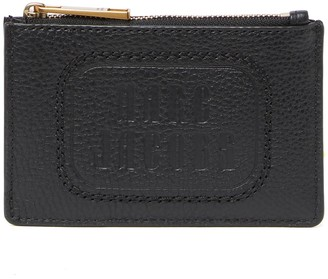 Marc Jacobs The Retro Logo Embossed ID Window Card Holder