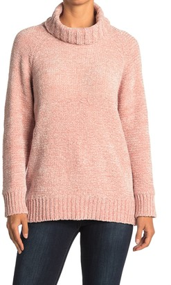 Lush Chenille Knit Turtleneck Sweater