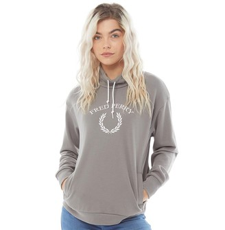 Fred Perry Womens Funnel Neck Sweatshirt Storm