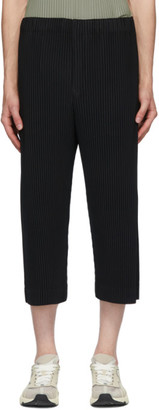 Homme Plissé Issey Miyake Black MC April Cropped Trousers