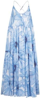 Jacquemus La Robe Mistral Printed Georgette Maxi Dress