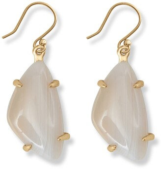 Lucky Brand White Agate Stone Drop Earrings