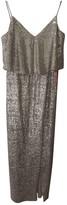 Monique Lhuillier Silver Glitter Dress for Women