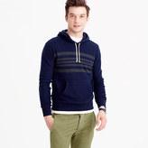 J.Crew Engineered-stripe brushed fleece hoodie