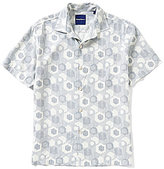Tommy Bahama Short-Sleeve Tiles Davis Printed Woven Silk Shirt
