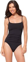 Anne Cole Women's Live In Color Shirred Lingerie Maillot One Piece Swimsuit