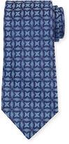 Charvet Interlocking Printed Silk Tie