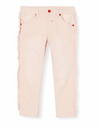 Brums Baby Girls' Pants Denim Color Stretch Con Rouches Jeans