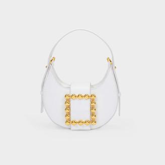 Les Petits Joueurs Cindy Shoulder Bag In White Leather