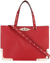 RED Valentino star studded structured tote - women - Calf Leather/metal - One Size
