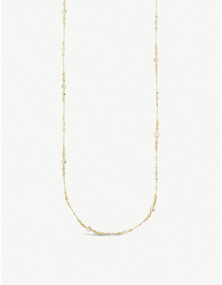 Kendra Scott Wyndham 14ct gold-plated and cubic zirconia necklace