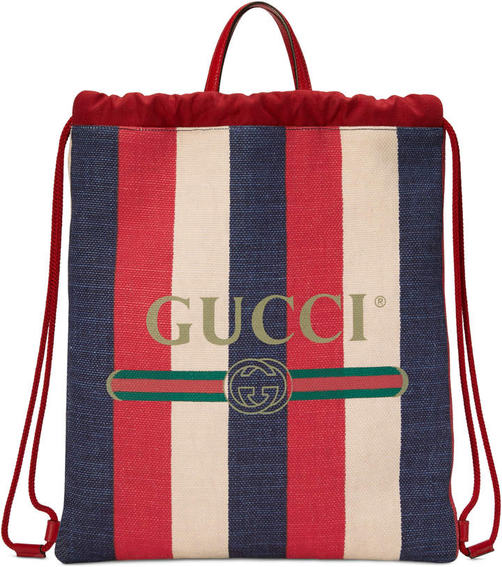 Gucci Print medium drawstring backpack