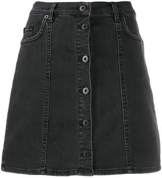 McQ short A-line denim skirt