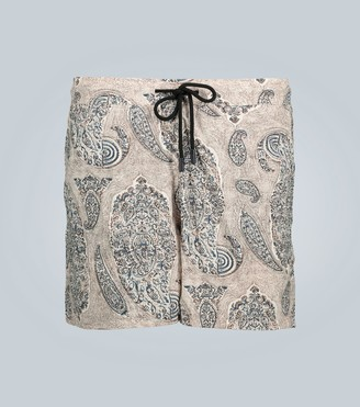 Etro Paisley printed swim shorts