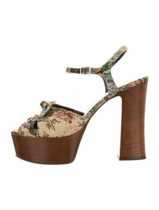 Saint Laurent Floral Print Sandals