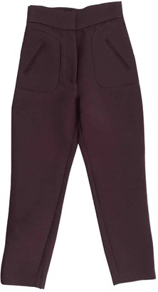 Zimmermann Purple Cloth Trousers