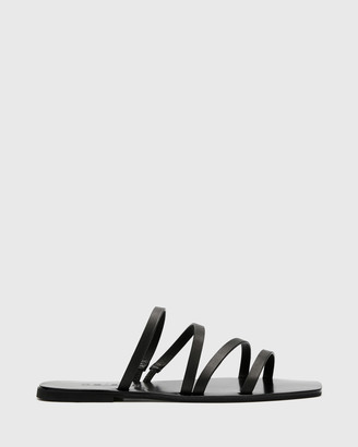Nelson Made - Women's Black Strappy sandals - Myra - Size One Size, 35 at The Iconic