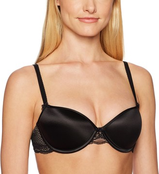 Heidi Klum Intimates Women's Perfectly Nude T-Shirt Bra Contour - Black Underwear