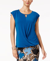 Thalia Sodi Draped Embellished Top, Created for Macy's