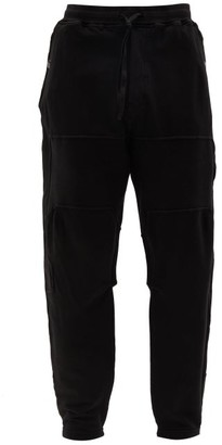 Stone Island Shadow Project Mid-rise Drawstring Cotton-blend Track Pants - Black