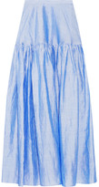 Co Ramie-blend Maxi Skirt - Light blue