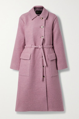Stine Goya Margret Belted Wool-blend Coat - Baby pink