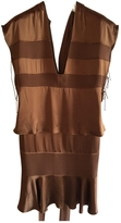 Saint Laurent Tom Ford for Brown silk runway dress