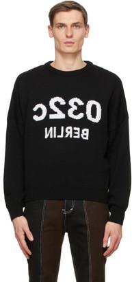 032c SSENSE Exclusive Black Selfie Pullover Sweater