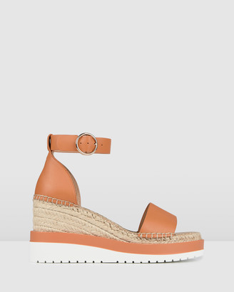 Jo Mercer - Women's Neutrals Sandals - Klume Mid Heel Wedge Espadrilles - Size One Size, 36 at The Iconic