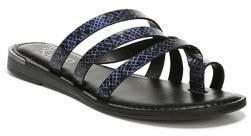 Franco Sarto Goddess Leather Snakeskin-Print Sandals
