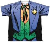 Batman DC Comics Superhero Joker Costume Big Boys Front Print T-Shirt Tee