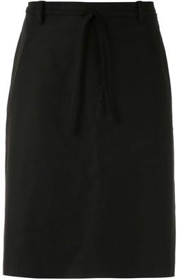 Egrey Belted Straight Skirt