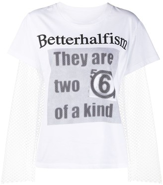MM6 MAISON MARGIELA Betterhalfism mesh T-shirt