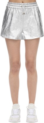 Coco Cloude Lvr Exclusive Metallic Leather Shorts