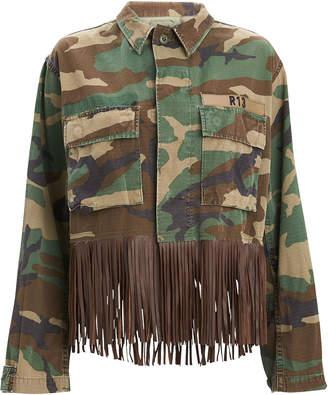 R 13 Abu Camo Fringe Jacket