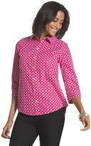 Chico's Effortless Geometric Beatrice Shirt