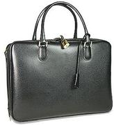 Fontanelli Black Lizard-print Calf Leather Briefcase