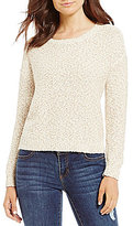 Copper Key Textured Boat Neck Long Sleeve Sweater