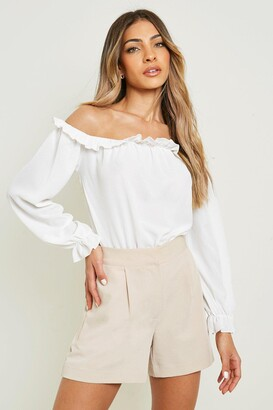 boohoo Off The Shoulder Woven one piece