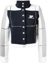 Courreges buttoned jacket - women - Spandex/Elastane/Viscose/Polyimide - 38