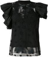 Elie Saab star ruffled blouse - women - Acetate/Rayon/Cotton/Silk - 38