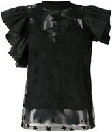 Elie Saab star ruffled blouse - women - Silk/Cotton/Polyamide/Rayon - 38