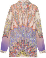 Etro Paisley-print Silk-chiffon Shirt - Pink