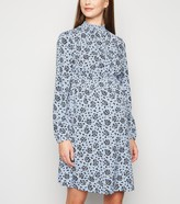 New Look Maternity Butterfly Print High Neck Dress