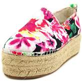 Betsey Johnson Flouncee Women Round Toe Canvas Multi Color Espadrille.