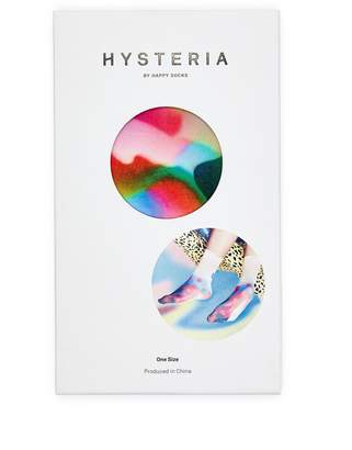Hysteria By Happy Socks 'Mia' watercolour print socks