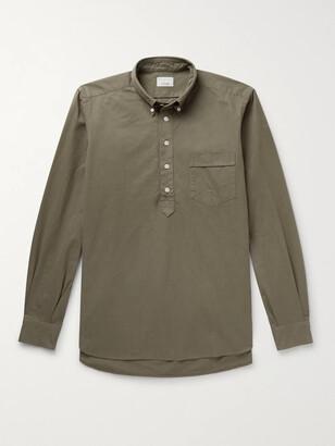 Kingsman Button-Down Collar Cotton Half-Placket Shirt